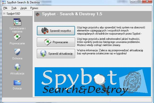 1.5.2 DESTROY TÉLÉCHARGER SPYBOT SEARCH AND