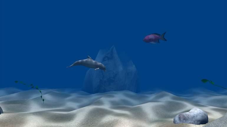 3D Dolphins – ScreenSavers.com