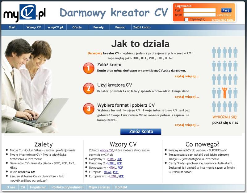 Kreator Cv Darmowy Program Do Tworzenia Cv Online