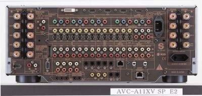 Tył wzmacniacza Denon AVC-A11XV