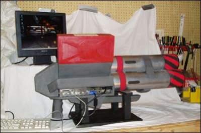 PainMaster 5000 - komputer w obudowie wyrzutni rakiet z gry Unreal Tournament