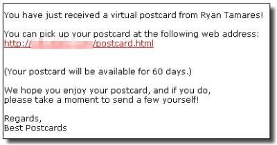 Treść niebezpiecznego e-maila (fot. Sophos.com).