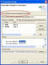 Kreator mechanizmu eksternalizacji stałych tekstowych
