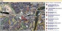 Okolice pałacu Buckingham – mapa hybrydowa