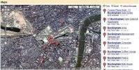Okolice pałacu Buckingham – mapa satelitarna