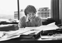Młody Bill Gates podczas pracy