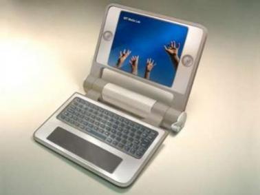 Prototyp taniego laptopa opracowany w MIT Media Labs (źródło: Reuters)