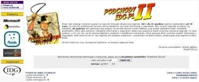 Główna strona konkursu Podchody IDG.pl
