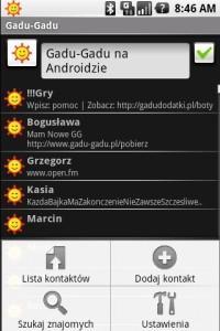 Gadu-Gadu w wersji dla Androida: lista kontaktów