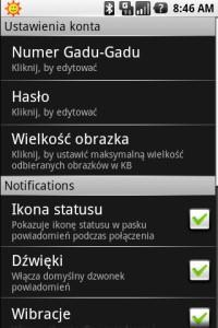 Gadu-Gadu w wersji dla Androida: ustawienia konta