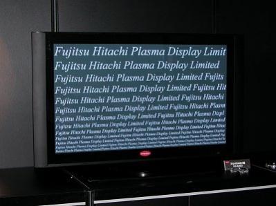 Telewizor wyprodukowany przez Fujitsu Hitachi Plasma (źródło: NikkeiBP)