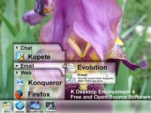 KDE4, temat: Etched Glass - wizja artysty (źródło: Golem.de)
