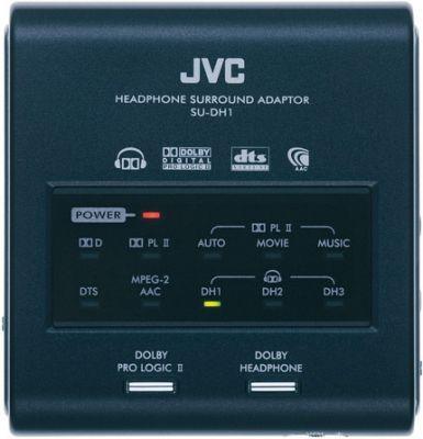 Adapter JVC SU-DH1 pozwalający na uzyskanie iluzji dźwięku przestrzennego zgodnego ze standardem Dolby Headphone