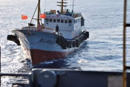 Jedna z chińskich jednostek nękających amerykański okręt USNS Impeccable