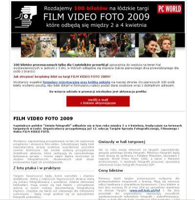 Targi FILM VIDEO FOTO 2009 - rozdajemy wejściówki