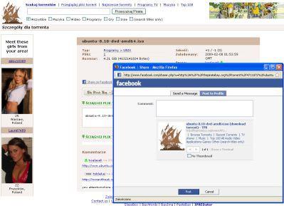The Pirate Bay dodaje do Facebooka obsługę torrentów