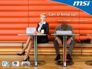 Jedna z nowych reklam netbooka MSI Wind U115