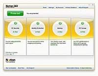 Norton 360 3.0 - okno główne