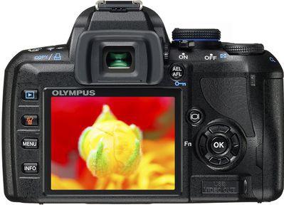 Olympus E-450 - lustrzane odbicie modelu E-420
