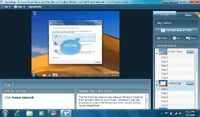 Windows 7 Demo Toolkit w akcji (źródło: Neowin.net)