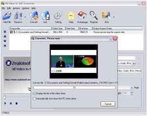 Zealot All Video To 3GP Converter 1.2 - skonwertuj film do komórki
