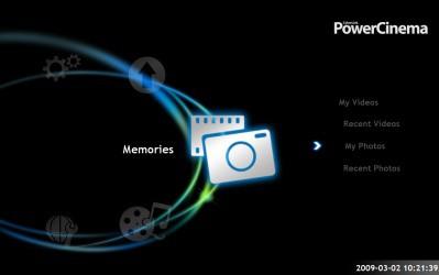 PowerCinema 6 wyróżnia się najbardziej niebanalnym interfejsem spośród wszystkich programów w zestawieniu.
