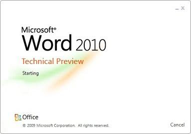 Zrzut ekranowy z Worda 2010