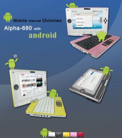 Alpha 680, czyli chiński netbook/tablet z procesorem ARM oraz Androidem na pokładzie