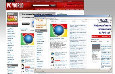 Prism 1.0 - strona WWW na pulpicie
