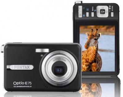 Pentax Optio E75 - nowy 10-megapikselowy kompakt