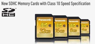 Panasonic prezentuje pierwsze karty SDHC Class 10