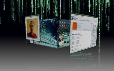 Compiz Fusion - przykład zaawansowanych efektów graficznych dostępnych w Linuksie.
