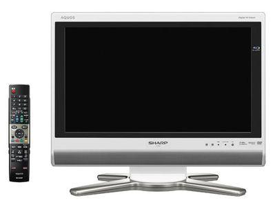 Aquos LC-20DX1 - pierwszy na świecie 20-calowy HDTV z wbudowaną nagrywarką Blu-ray