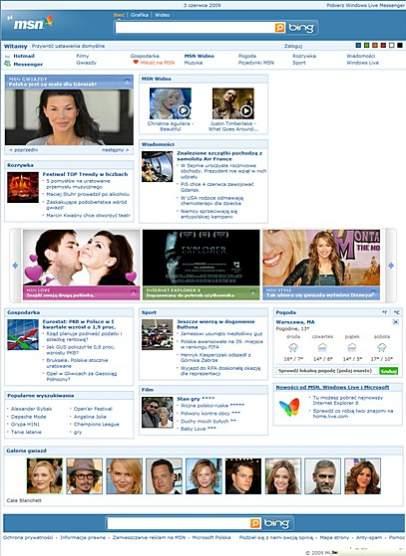MSN.pl jeszcze samodzielnie <br>(choć z treściami dostarczanymi przez Agorę)
