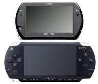 Konsola PSPgo (na górze) w porównaniu z PSP