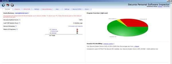 Personal Software Inspector 1.5 sprawdzi liczbę niezałatanych programów w twoim Windows