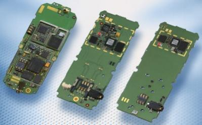 Od lewej: elektronika w klasycznej komórce, w komórce z układami ULC1 (w sprzedaży od marca), z układami ULC2 (w sprzedaży od 2007 roku) - źródło: Infineon