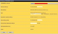 Predefiniowany przelew na witrynie mbanku.
