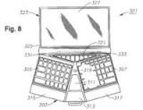 Laptop z ergonomicznym zaawansowanym interfejsem