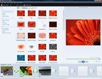 W Windows Movie Makerze utworzysz klipy, przeciągając je na oś czasu. W ten sam sposób skorzystasz z efektów i przejść.
