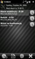 G-Alarm 2.3 - nietypowy budzik do komórki z Windows Mobile