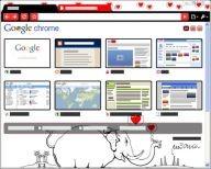 Motyw dla przeglądarki Google Chrome autorstwa Andrzeja Mleczki