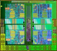 Widoczne cztery rdzenie AMD Athlon II X4 620.