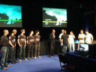 Drużyny e-sportowe: Fnatic.MSI i Frag eXecutors w towarzystwie D. Szpakowskiego