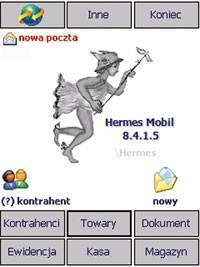 Dzięki aplikacji Hermes MOBIL przedstawiciele handlowi mają dostęp nie tylko do pełnej informacji o kontrahencie, jego zadłu żeniu (zadłu żeni są zaznaczeni na czerwono), warunkach współp racy oraz historii obrotów, ale mogą też na bieżąco uaktualniać dane oraz rozszerzać bazę klientów.