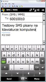 Aplikacja umożliwia wygodne wysyłanie SMS-ów.