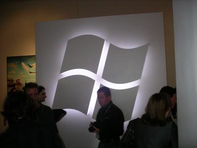 Logo Windows 7 - główny element witający gości