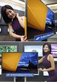 Cienki 40-calowy telewizyjny panel LCD Samsunga