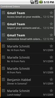 Łączona skrzynka e-mail w Android 2.0