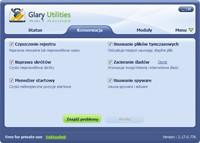 Glary Utilities to kombajn z mnóstwem funkcji, umożliwiający szybką konserwację systemu.